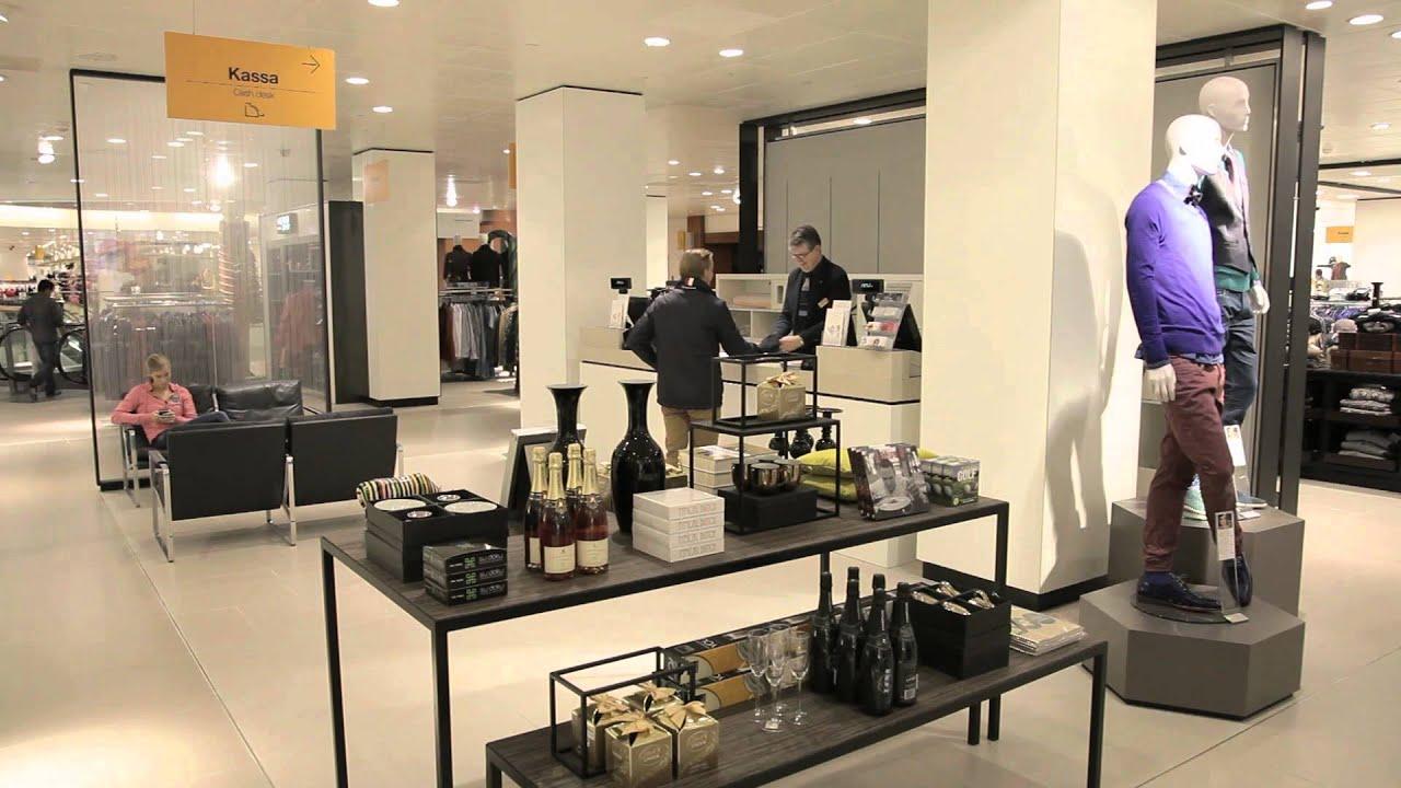 33cb42600c2413 Geheel vernieuwde afdeling Herenmode in de Bijenkorf Den Haag - YouTube