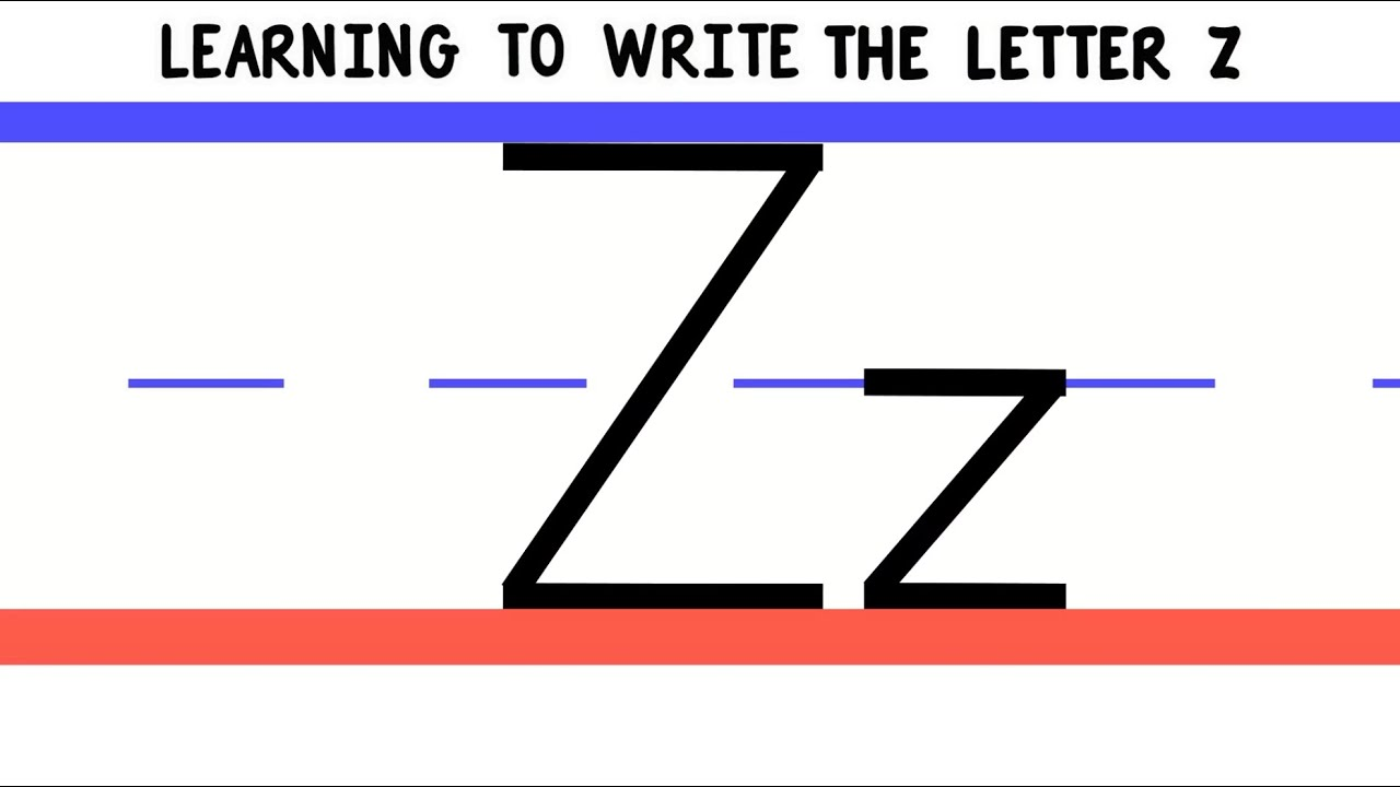 Write the Letter Z - ABC Writing for Kids - Alphabet ...