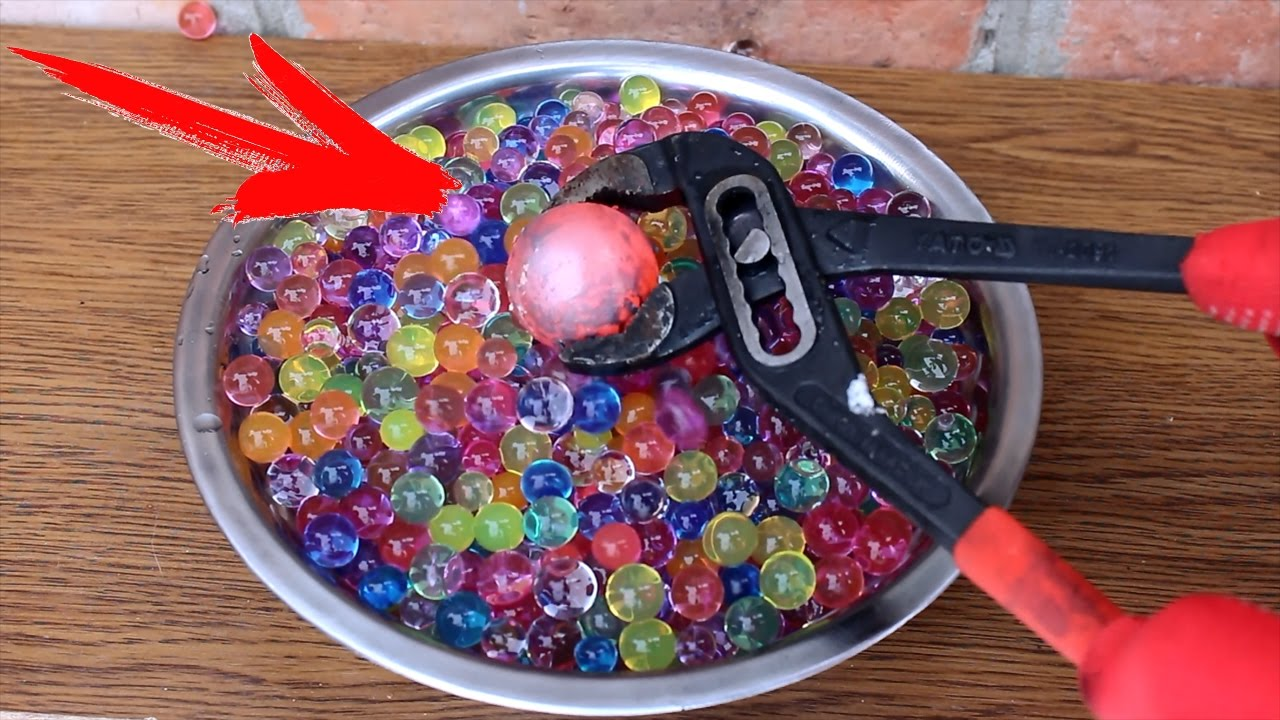 EXPERIMENT Glowing 700 degree metal ball VS BALLS ORBIZ