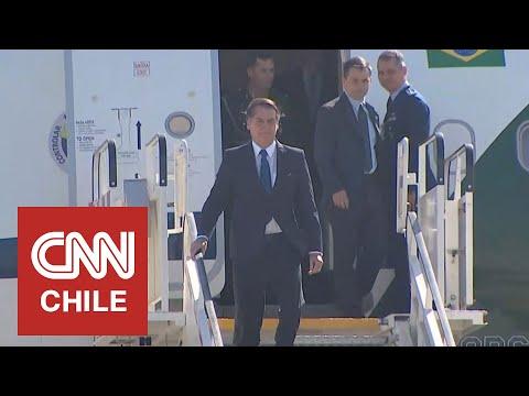 "Jair Bolsonaro ya está en Chile: ""No vine a hablar de Pinochet"""