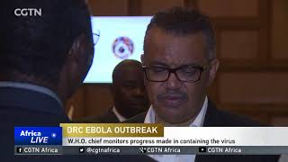 W.H.O. chief monitors progress made in containing Ebola in DR Congo