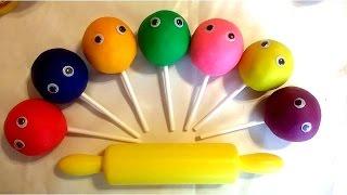 Играем и учим цвета на английском языке с Чупа-Чупс из Плей До и формочками Развивающее видео