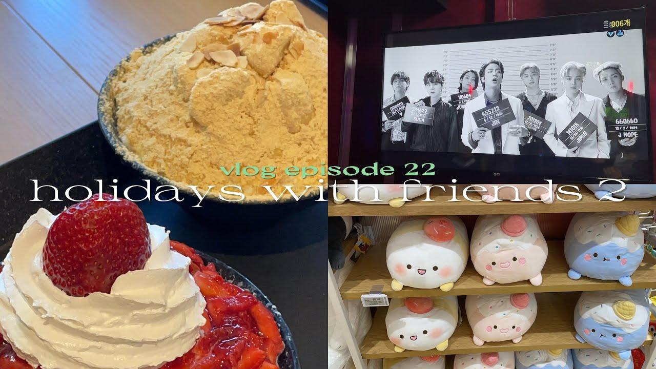 s2 vlog 🎤city karaoke with friends and bingsu in winter
