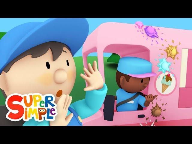 Ivan's Ice Cream Truck goes through the car wash | Cartoon for kids