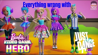 Everything wrong with the Just Dance scene in Barbie: Video Game Hero