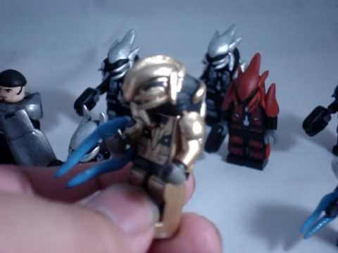 Custom lego halo elites arbitar and gears of war youtube - Lego spartan halo ...
