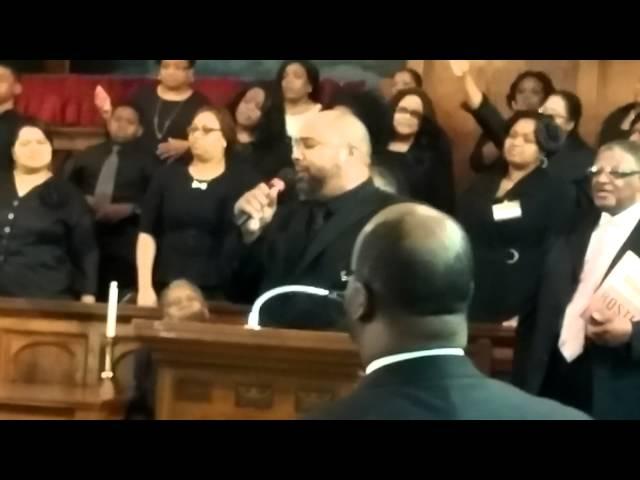 Pastor Mario Hayslett singing How Excellent