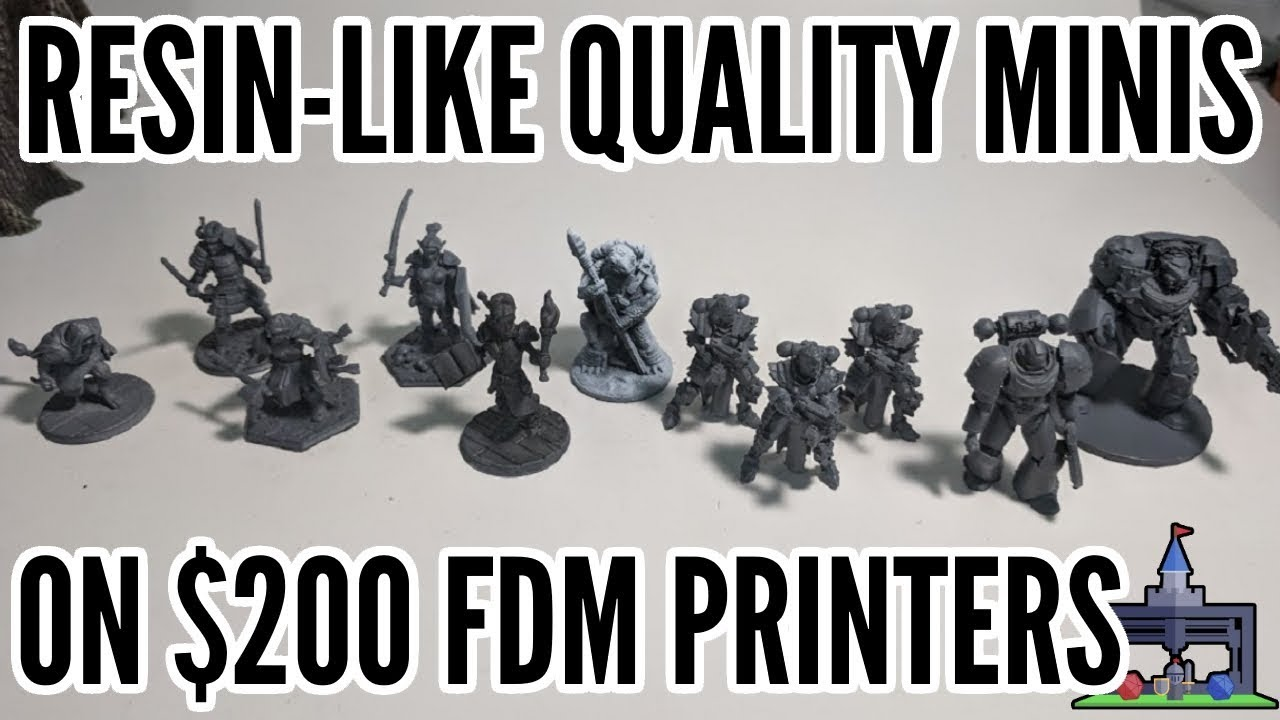 image regarding Printable Minis D&d called How In the direction of Print Resin-Such as FDM Minis upon $200+ 3D Printers (Printing The Recreation #3)