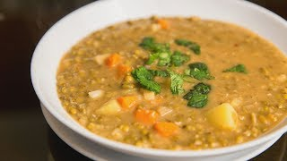 Суп из маша с овощами | Суп из зеленой чечевицы