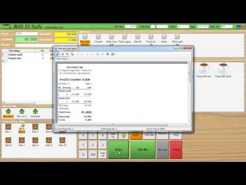 Hướng dẫn: Phần mềm quản lý cafe, nhà hàng  - HiVi 2S Cafe (có bản free)