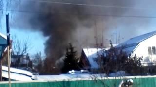 В Цыганском посёлке загорелся частный дом
