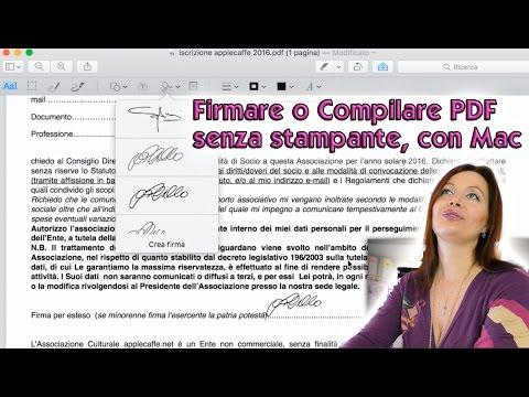 Come compilare e Firmare Documenti PDF senza stamparli, con MAC