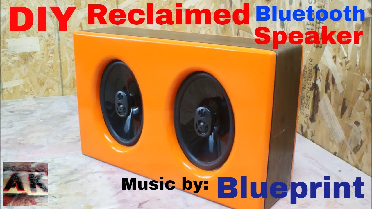 DIY Wireless Bluetooth Powered Speaker Music Just Move by Blueprint made  using Reclaimed Materials