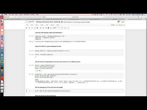 Retrieve structures from COD or ICSD - YouTube