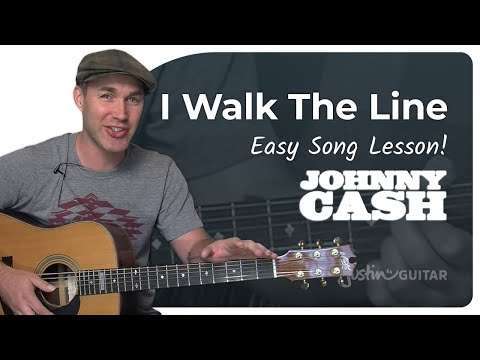 I Walk The Line - Johnny Cash (Beginner Song Guitar Lesson BS-105) How To Play