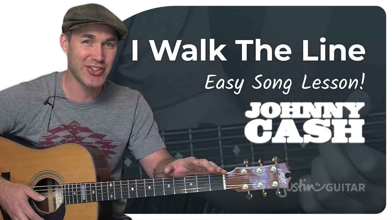 I Walk The Line Johnny Cash Beginner Song Guitar Lesson Bs 105