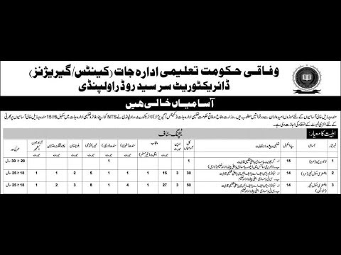 FEDERAL GOVT TEACHING JOBS MALE BS 14 JOBS, FEMALE BS 14 ELEMENTARY TEACHING JOBS, VARIOUS OTHER JOB