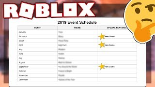 2019 EVENTS REVEALED | Roblox