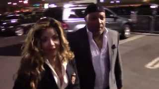 LaToya Jackson is seen arriving at little sister Janet