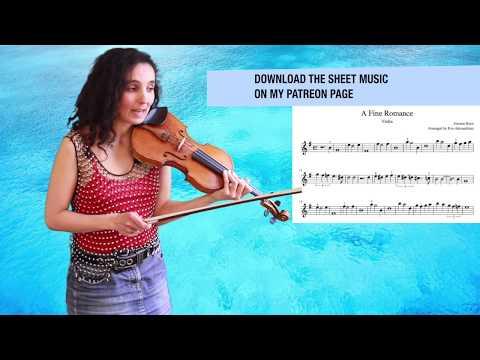 A Fine Romance 🎻 Jerome Kern 🎻 Violin Sheet Music & Tutorial - Slow and Fast thumbnail