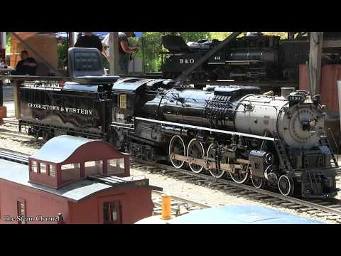 Buckeye Limited: Live Steam Berkshire, H10, and Yard Action