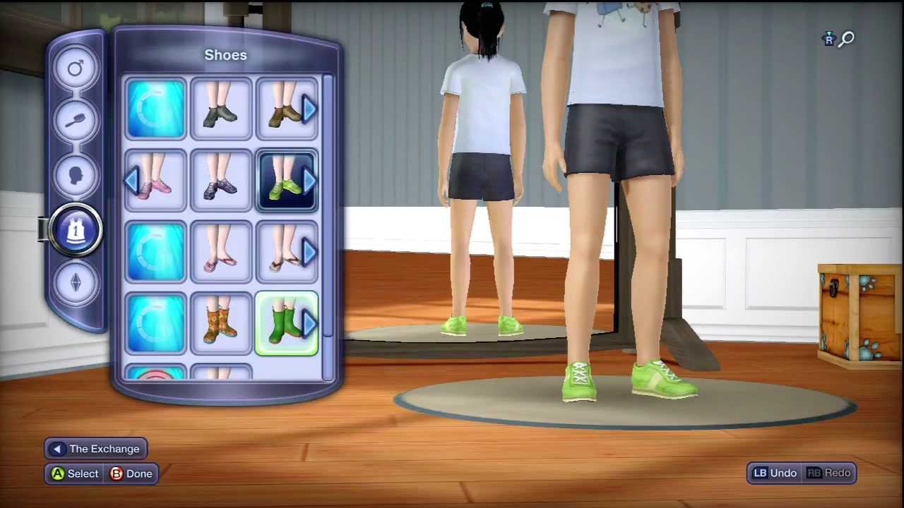 The Sims 3 Pets XBOX 360  In Depth Hair and Clothes For