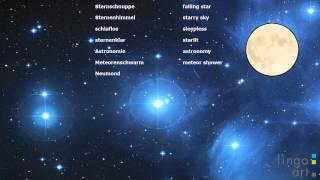 Sternschnuppen-Nacht Vokabel Video Deutsch - Englisch(Mit diesem Video lernen Sie englische und deutsche Vokabeln rund um das Thema Sternschnuppen. Viel Spaß! lingo art - the language training experts ..., 2015-08-12T16:02:57.000Z)