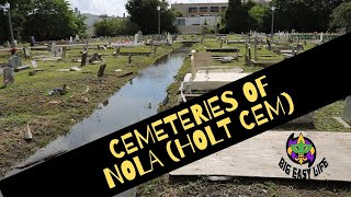 Big Easy Life visits cemeteries of New Orleans. Starting at Holt Cemetery