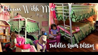 PREGNANT ORGANIZE & CLEAN WITH ME| TODDLER ROOM EDITION