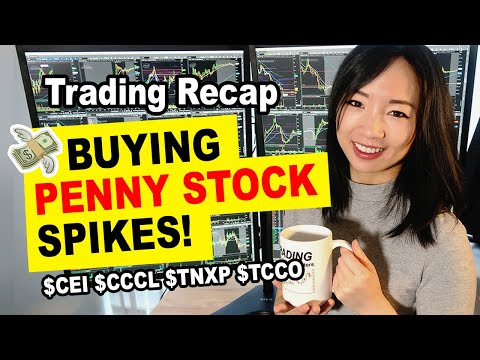 How To Buy Penny Stocks Spikes At Open & Premarket $TNXP $CEI $CCCL $CIFS Trading Recap