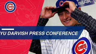Yu Darvish introduced, excited to join Cubs