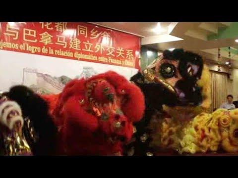 Members of Panama's Chinese community celebrate establishment of ties