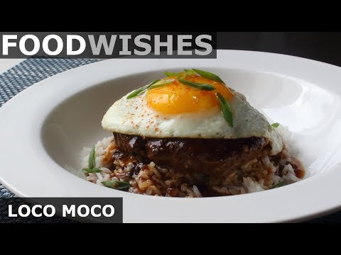 Loco Moco - Hawaiian Gravy Burger on Rice - Food Wishes