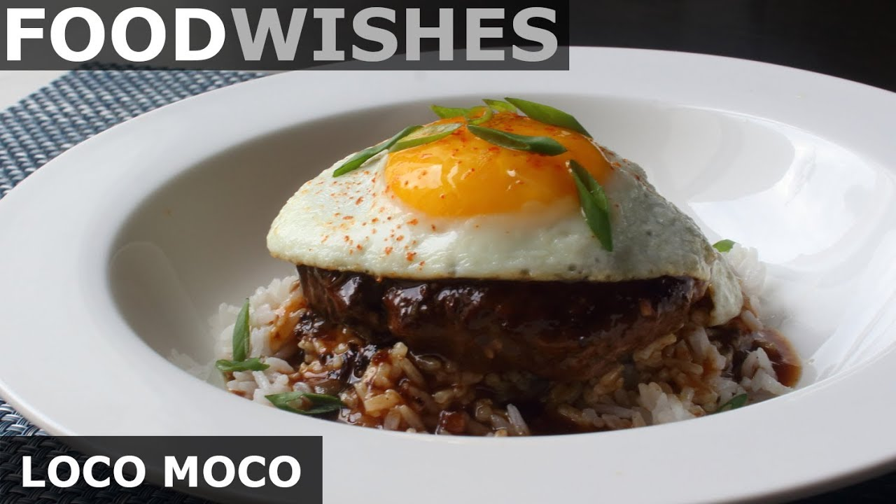 Loco Moco Hawaiian Gravy Burger On Rice Food Wishes Youtube