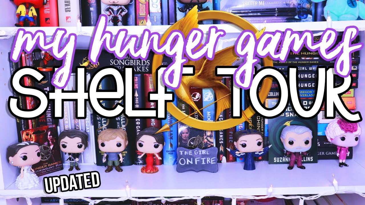 MY HUNGER GAMES SHELF TOUR // updated!🔥🏹