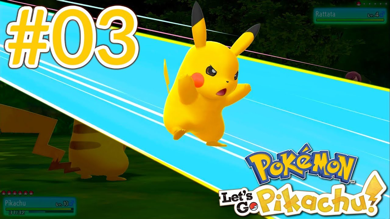 PIKACHU'S NEW SPECIAL MOVE! - Pokémon Let's Go Pikachu Playthrough Ep  03