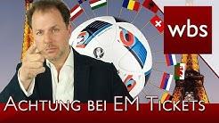 EM-Tickets – Achtung Abzocke durch Betrüger | Rechtsanwalt Christian Solmecke