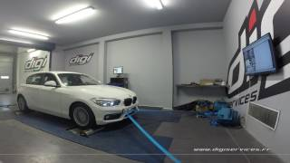 BMW 114 D 1.5 95cv Reprogrammation Moteur @ 145cv Digiservices Paris 77 Dyno