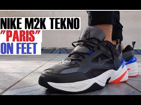 NIKE M2K TEKNO  PARIS  AV4789 003 ON FEET  003 - YouTube a8d39b9db