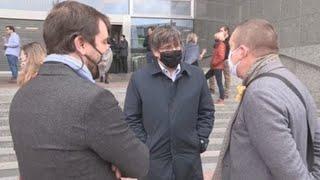 """JxCat y ERC muestran su apoyo a los presos del """"procés"""" frente al Parlamento Europeo"""