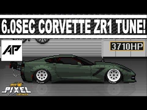 Pixel Car Racer | 3710HP Corvette ZR1 Drag Tune | 6 0 Second 1/4Mile!