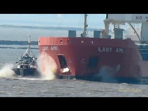 coaster LADY AMI PCZT IMO 9624861 Emden cargo seaship merchant vessel Kümo