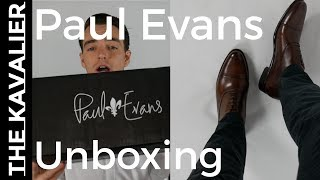Paul Evans Cagney Cap Toe Oxfords Unboxing | Luxury Italian Dress Shoes
