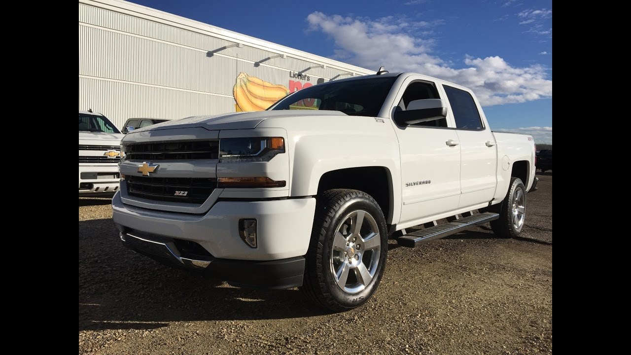 new 2017 chevrolet silverado 1500 2lt white crew cab short box 4x4 17n038 youtube. Black Bedroom Furniture Sets. Home Design Ideas