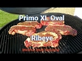Primo Oval XL 400 - How to Grill Rib Eye Steak!