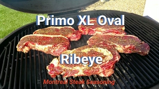 Primo Oval XL 400  How to Grill Rib Eye Steak