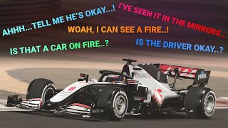 Drivers' Radio Reaction to Grosjean's Crash | F1 2020 Bahrain Grand Prix