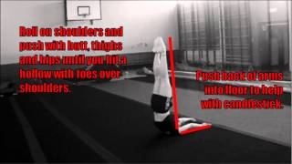 Cheerleading Conditioning Drills for a better Straight: Candlestick