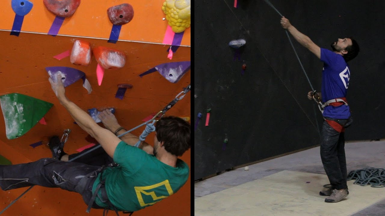 Lead Belay Indoor Climbing Rock