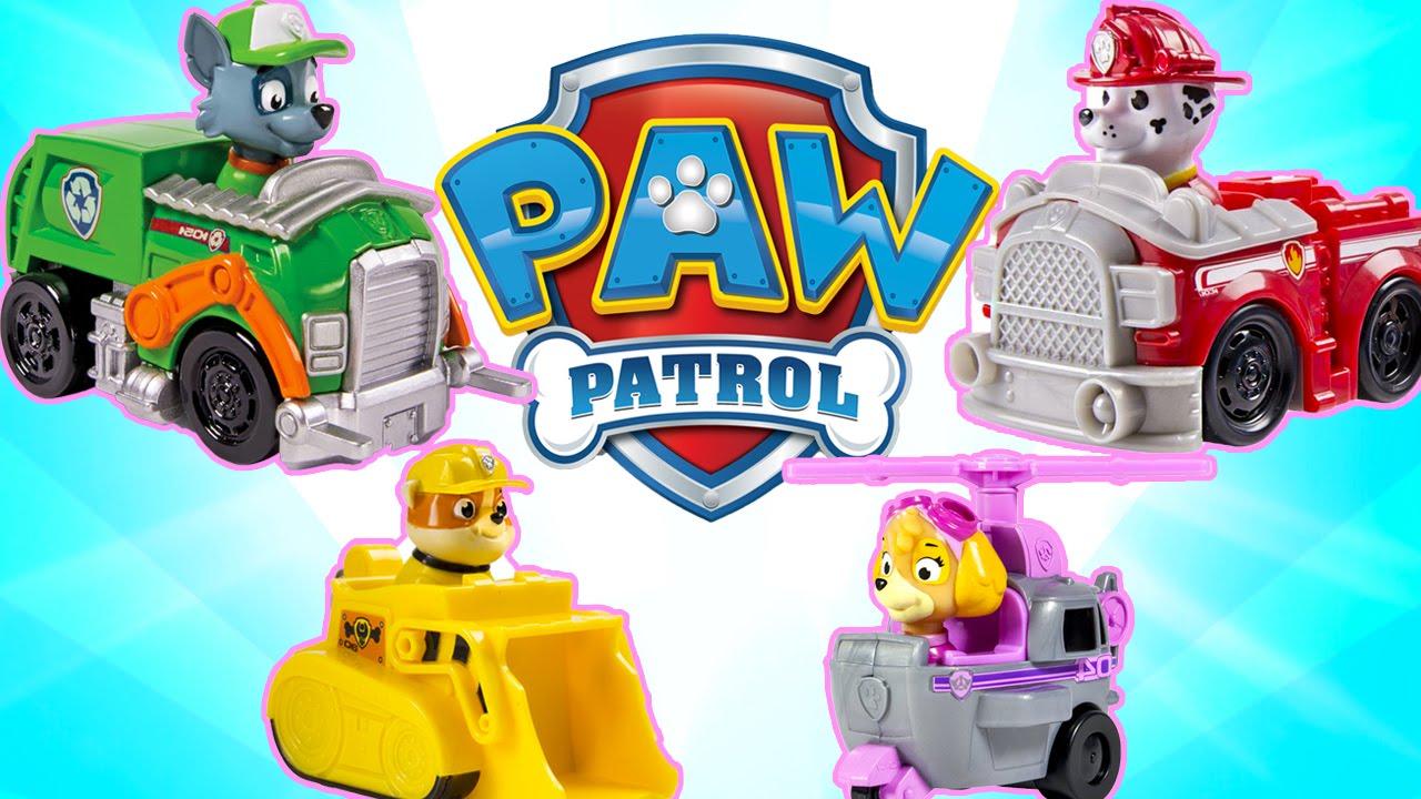 PAW PATROL Racers Team Pack! Rubble, Rocky & Skye!